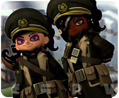 [Holy Octarian Imperium] Octarian Officers by Cura-The-Yoshi
