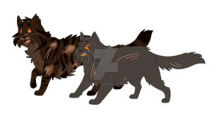 Yellowfang and Raggedstar by xXThatEpicDrawerXx