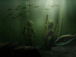 The diver by lupographics
