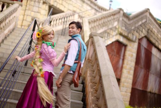 Flynn and Rapunzel by riezforester