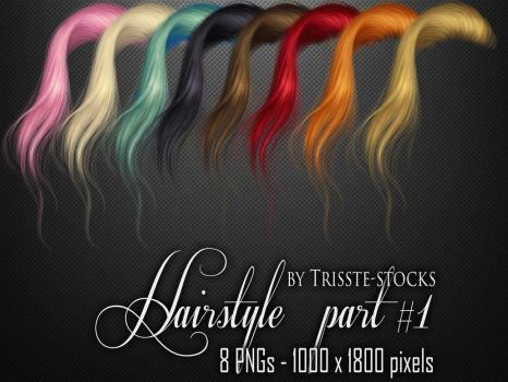 Hairstyle part #1 by Trisste-stocks