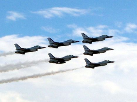 Thunderbirds in Formation by coldmist1