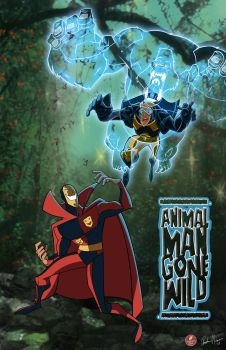 Animal Man vs. Psycho Pirate by AndrewJHarmon