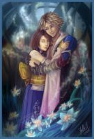 Tidus and Yuna by StellaB