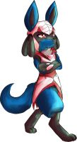 Silly Lucario by Noerbmu