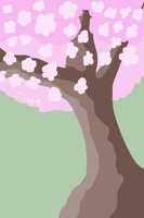 Good vibes Sakura tree by acluelessgirl