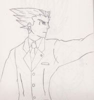 Phoenix wright warm up by XenoGX18