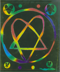 colefull heartagram.... wheeee by XTomWasNotHereX