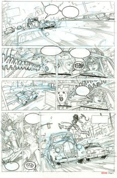 Red One Book 2 Undercover Page 6 Pencils by TerryDodson