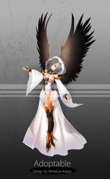[CLOSED] AUCTION Raven girl by WhiteLie-Adopt