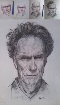 Clint Eastwood by autier