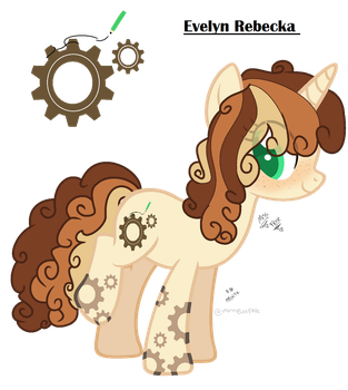 Evelyn Rebecka-Mlp OC by MissEvieFrye