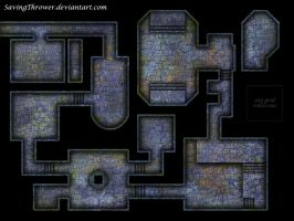 Clean crypt dungeon battlemap for DnD / roll20 by SavingThrower