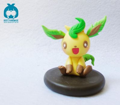 Leaferon - eevee evolution handmade clay by Booshandmadeshop