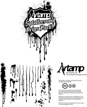Free vector splats and drips by artamp