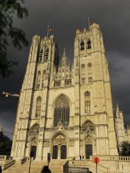 Cathedral, Brussels by Vempje