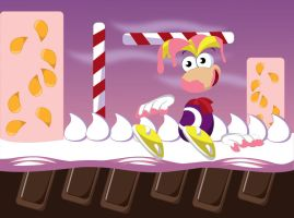 Rayman in Candy Chateau by gemstonelover49