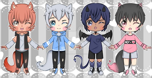 Adoptables Set price : Open 4/4 by CqshonTouch
