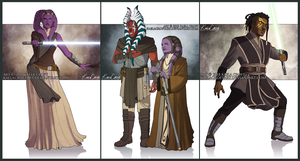 Quick Full Body Commissions Batch: Four by KaelaCroftArt
