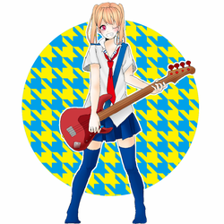 Kotone on Guitar! by AbbieUsedRest