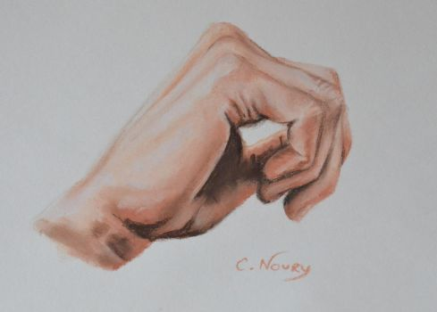 Tom's Hand 33 'Think' by Andromaque78