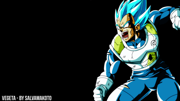 ssj blue vegeta by salvamakoto