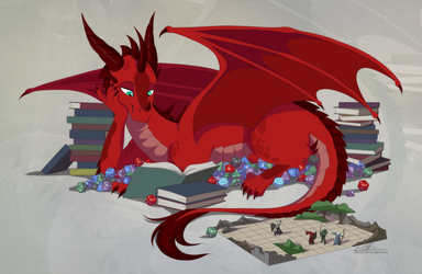 [commission] The DND Dragon by DVixie