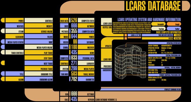 LCARS for Rainmeter v2.5 (WiP) by Jefson