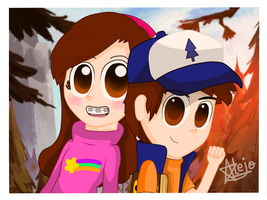 |GF|: Mabel and Dipper by Miaumy