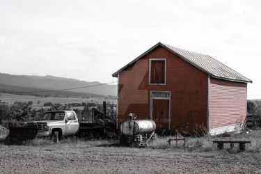 The Old Red Barn by JbvDesigns