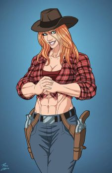 Billie Lee (Earth-27) OC commission by phil-cho