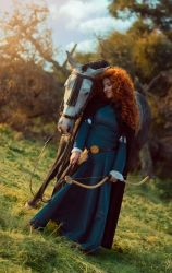 Merida and Angus [BRAVE] by JulietGarcia