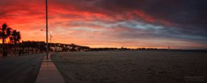 Sunset at San Vito by klapouch