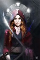ShadowHunters -  Clary Fray Illustration  / L Hunt by vurdeM