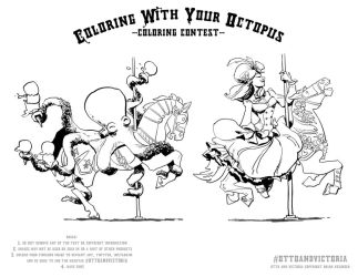 Carousel coloring contest by BrianKesinger