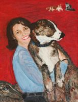 Shirine with Pets in Oil by CarolynYM