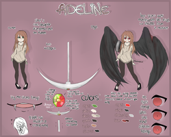 Adeline reference sheet //OLD by oOBaka-AdiOo