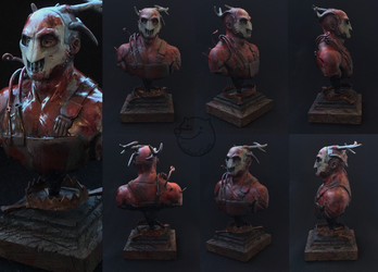 the Trapper [bust] by CadaverCrafts