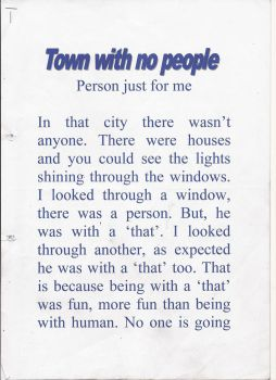 Town With No People SCRIPT (Page 1) by MikaDiva