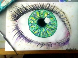 Watercolor eye -Finished- by PinkBerry-Acid16