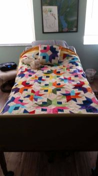 Mom's Quilt on her bed! by Nyaih-Light