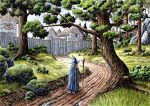 Gandalf Arrives at Bree 2 by HarHon