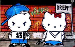 cholowiz Hello Kitty Gangsters by wizard1labels