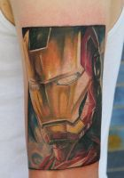 Iron man tattoo by graynd