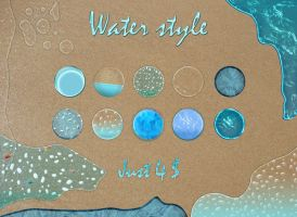 Water photoshop text style by Matylly