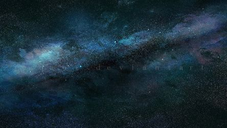 Milky Way space background stock by QAuZ