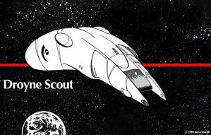 Droyne Scout Courier by RobCaswell