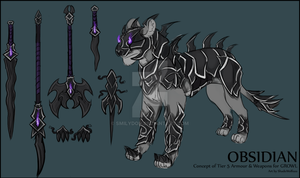Obsidian Armour and Weapons Concept by AshSkye