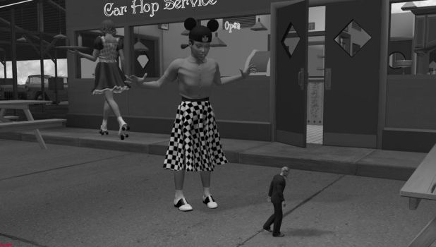 Incredible Shrinking Man - 59 Evening Stroll by DrCreep
