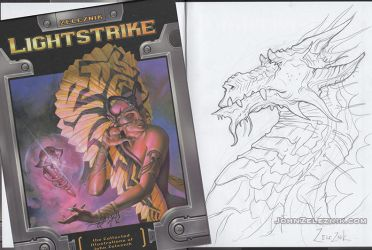 Dragon Sketched Lightstrike by Zeleznik